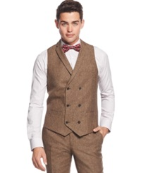 Bar Iii Brown Tweed Slim Fit Vest Only At Macy's