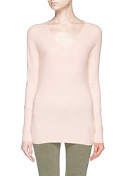 J.Crew Collection Cashmere V Neck Sweater Pink