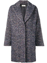 Zadig And Voltaire Classic Single Breasted Coat Blue