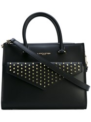 Lancaster Studded Tote Bag Women Leather Metal One Size Black