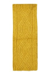 Topshop Cable Scarf Ochre