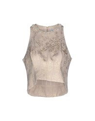 Uniqueness Topwear Tops Women Beige