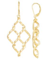 Macy's Interlocked Chandelier Earrings In 14K Gold Yellow Gold