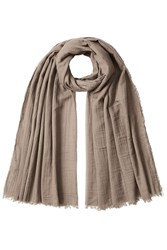 Rick Owens Cotton Scarf Grey