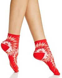 Hue Tie Dye Body Socks Red