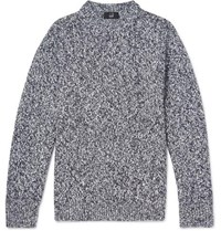Dunhill Slub Wool And Cashmere Blend Sweater Gray