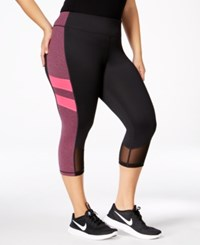 Ideology Plus Size Colorblocked Capri Leggings Only At Macy's Sweet Fig