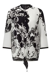 James Lakeland Printed Blouse With Tie White