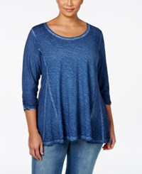 Styleandco. Style And Co. Plus Size Burnout Three Quarter Sleeve Top Only At Macy's