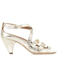 Laurence Dacade Teodora Strappy Sandals Gold