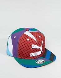 Puma X Dee And Ricky Snapback Cap In Multi Colour 2103001 Multi