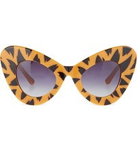 Jeremy Scott Tiger Print Cat Eye Sunglasses