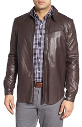 Men's Robert Comstock Lambskin Leather Western Jacket
