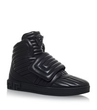Versace Medusa Quilted Padded Hi Tops Male Black