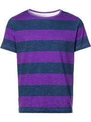 Cynthia Rowley Striped T Shirt Blue