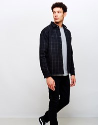Edwin Labour 4 Pocket Wool Flannel Check Shirt Black White Multi