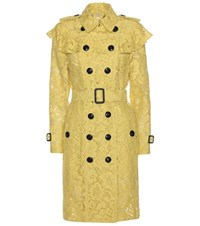 Burberry Stanhill Lace Trenchcoat Yellow
