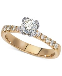 Macy's Diamond Two Tone Engagement Ring 7 8 Ct. T.W. In 14K Gold And White Gold Yellow Gold
