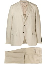 Massimo Piombo Mp Classic Two Piece Suit Neutrals