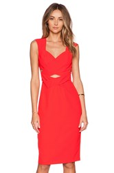 Lumier Flamboyant Flame Wrap Dress Red