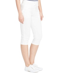 Lauren Ralph Lauren Cropped French Terry Pants White