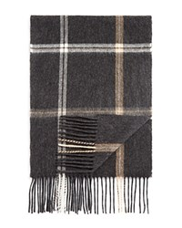 Bloomingdale's The Men's Store At Plaid Windowpane Scarf Grey Camel