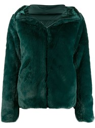 Save The Duck Fury9 Reversible Faux Fur Jacket Green