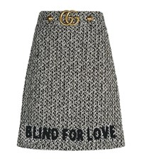 Gucci Tweed A Line Mini Skirt Female Grey