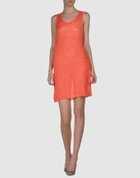 Monica Bianco Short Dresses Coral