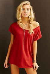 Truly Madly Deeply Off The Shoulder Tee Red