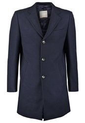 Knowledge Cotton Apparel Classic Coat Total Eclipse Dark Blue