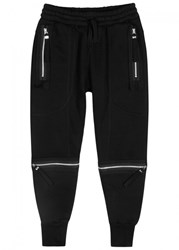 Blood Brother Grundy Zipped Jersey Jogging Trousers Black