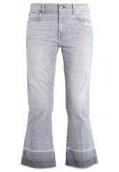 7 For All Mankind Bootcut Jeans Cool Grey Destressed Grey Denim