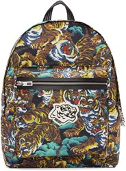 Kenzo Multicolor Nylon Flying Tiger Backpack