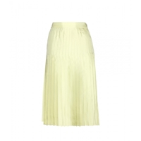 Givenchy Silk Pleated Skirt Almond Green
