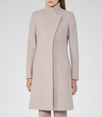 Reiss Hutton Womens Wrap Collar Coat In Brown