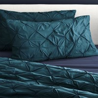 Cb2 Set Of 2 King Prisma Blue Green Shams