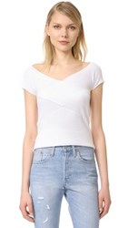 525 America Crisscross Top Bleach White