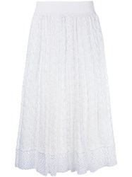 Missoni Knitted Midi Skirt White