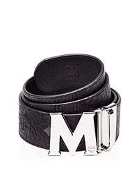Mcm Visetos Reversible Belt Black