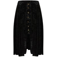 A M M E Victoriana Riding Skirt In Black Velour Lace