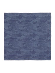 T.M.Lewin Camouflage Pocket Square Navy