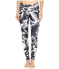 Lucy Studio Hatha Legging Black Abstract Floral Print Women's Workout