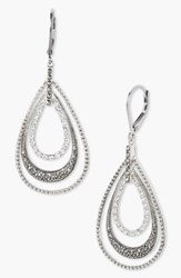 Judith Jack Orbital Triple Teardrop Hoop Earrings