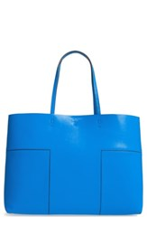 Tory Burch 'Block T' Leather Tote Blue Galleria Blue Tory Navy