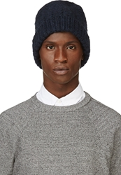 Maison Martin Margiela Navy Bubble Knit Beanie