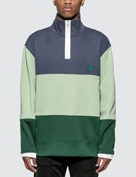 Acne Studios Zip Fleece Denim Blue Sweatshirt