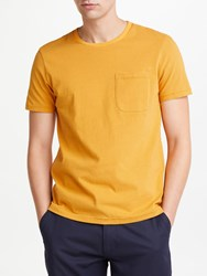 John Lewis And Co. Fine Stripe Jersey Crew Neck T Shirt Gold