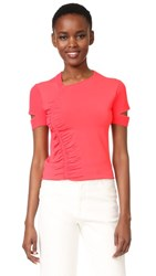 Jason Wu Short Sleeve Top Neon Pink