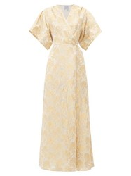 Thierry Colson Marieke Floral Silk Brocade Dress Gold